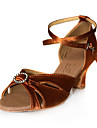 satin övre kvinnors hög klack dans skor balsal latinska skor fler färger