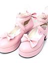 Dam Skor Sweet Lolita Högklackat Skor Rosett 6.5 cm Svart Rosa PU-läder / Polyuretan Läder Polyuretan Läder Halloween kostymer / Prinsessa
