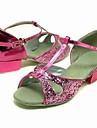 glittrande glitter övre rosa dansskor balsal latinska skor för barn fler färger