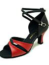 äkta läder övre dansskor balsal latinska skor för kvinnor