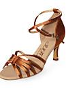 satin övre latinska dansskor balsal praxis högklackade skor för kvinnor