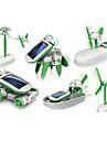 6 In 1 Robotar Leksaksbilar Soldrivna leksaker Soldriven Plast ABS Pojkar Flickor Leksaker Present