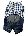 Hund Jumpsuits Hundkläder Jeans Blå Cotton Kostym För husdjur Herr / Dam Cowboy / Mode