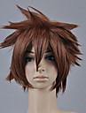Kingdom Hearts Sora Men's 12 inch Heat Resistant Fiber Anime Cosplay Wigs