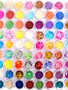 72 pcs Moderiktig design / Personlig Glitter Glitter Nail Art Kit Nagelsmycken Till finger Romantik nagel konst manikyr Pedikyr Dagligen Abstrakt / Mode