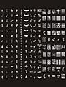 240 mönster nail art platta stämpel bild / stora spik mallar konst / spik stenciler