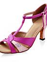 Satin / mousserande glitter övre latinska dansskor balsal skor för kvinnor mer färger