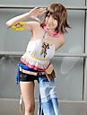 Inspirerad av Final Fantasy Yuna Video Spel Cosplay-kostymer cosplay Suits Lappverk Kortärmad Väst Armbindel Midje accessoar Kostymer / Chiffong