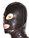 Mask Huddräkt Ninja Vuxna Spandex Latex Cosplay-kostymer Kön Herr Dam Svart Enfärgad Halloween