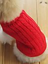 Katt Hund Tröjor Hundkläder Brun Röd Blå Cotton Kostym Till Vinter
