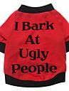 Hund T-shirt Hundkläder Andningsfunktion Kostym Cotton Bokstav & Nummer XS S M L XL XXL