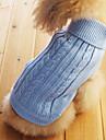 Katt Hund Tröjor Vinter Hundkläder Ljusblå Kostym Cotton Enfärgad XS S M L XL