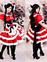 Inspirerad av Touhou Project Reimu Hakurei Video Spel Cosplay-kostymer cosplay Suits / Klänningar Lappverk Kortärmad Klänning Huvudbonad Dekorativa Halsband Kostymer / Satin