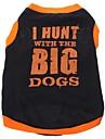 Hund T-shirt Hundkläder Andningsfunktion Svart Kostym Cotton Bokstav & Nummer XS S M L
