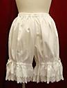 Vintage Spets Byxa Vit Svart Cotton lolita tillbehör