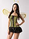Söta lilla biet gula och svarta ränder Polyester Kvinnors dräkt (2 stycken)