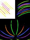 100st FOSFORESCERANDE Glow Stick Blandade slumpmässig färg Konsert Props