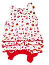 Hund Klänningar Hundkläder Röd Kostym Cotton Frukt XS S M L