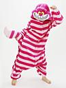 Vuxna Kigurumi-pyjamas Chesire Cat Djurmönstrad Onesie-pyjamas Korallfleece Röd Cosplay För Herr och Dam Pyjamas med djur Tecknad serie Festival / högtid Kostymer