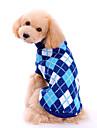 Hund Tröjor Vinter Hundkläder Blå Kostym Ull Pläd / Rutig Klassisk Mode XS S M L XL