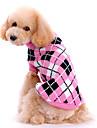 Hund Tröjor Vinter Hundkläder Rosa Kostym Ull Pläd / Rutig Håller värmen XS S M L XL