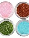 4 Färger Laser Glitter Akryl Pulver uppsättning För 3D nagel konst No.1