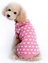 Tröjor Vinter Hundkläder Rosa Kostym Flickor Husky Labrador golden retriever Ull Hjärta Håller värmen XS S M L XL XXL