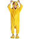 Barn Kigurumi-pyjamas pika pika Djurmönstrad Onesie-pyjamas Flanell Gul Cosplay För Pojkar och flickor Pyjamas med djur Tecknad serie Festival / högtid Kostymer