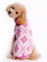 Hund Tröjor Vinter Hundkläder Blå Rosa Kostym Ull Pläd / Rutig XS S M L XL