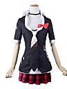 Inspirerad av Dangan Ronpa Junko Enoshima / skol Video Spel Cosplay-kostymer cosplay Suits / Skoluniformer Lolita Kappa Blus Kjol Kostymer / Knyta / Knyta