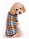 Katt Hund Tröjor Vinter Hundkläder Brun Kostym Husky Labrador Bulldogg Ull Pläd / Rutig Klassisk Håller värmen XS S M L XL
