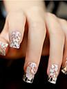 12 pcs 3D Nagelstickers Snör åt klistermärken Vackert nagel konst manikyr Pedikyr Dagligen Blomma / Bröllop / Mode / Snörklistermärke / 3D Nail Stickers / ABS
