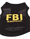 Hund T-shirt Hundkläder Andningsfunktion Svart Svart / Gul Gul Kostym Cotton Polis / Militär Bokstav & Nummer Semester Mode XS S M L