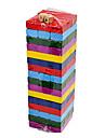 48st Underhållande Colors Wood Material Jenga Block Game Toy Set Med 2 Tärningar