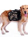 Hund Ryggsäck för hund Dog Saddle Bag Hundkläder Grön Kostym Husky Labrador alaskan malamute Nylon Kamouflage Sport M L