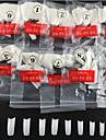 500 pcs Helnageltoppar Halvnageltoppar nagel konst manikyr Pedikyr Dagligen Abstrakt / Mode / Plast