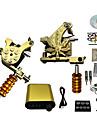 Tattoo Machine Professionell Tattoo Kit - 2 pcs Tatueringsmaskiner, Professionell / Hög kvalitet, fri formaldehyd LCD strömförsörjning No case 2 x gjutjärn tatuering maskin för linjer och skuggning