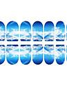 12 pcs Helnageltoppar 3D Nagelstickers nagel konst manikyr Pedikyr Dagligen Tecknat / Mode / 3D Nail Stickers / ABS