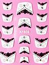 1 pcs Franska design tips 3D Nagelstickers Snör åt klistermärken Till finger nagel konst manikyr Pedikyr Abstrakt / Franska tipsguide / Snörklistermärke / 3D Nail Stickers