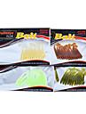 12 pcs Fiskbete Mjukt bete Lock förpackningar Bass Forell Gädda Sjöfiske Färskvatten Fiske Generellt fiske Silikon