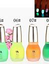 1st Laushine Luminous Noctilucent Fluorescerande Nagellack Glow i mörka miljövänligt (No.5-8, blandade färger)