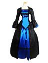 Victoriansk Medeltida kostymer 18th Century Klänningar Festklädsel Maskerad Dam Spets Kostym Vintage Cosplay Party Bal Långärmad Lolita Balklänning
