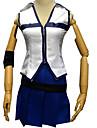 Inspirerad av Sagotema Lucy Heartfilia Animé Cosplay-kostymer Japanska cosplay Suits Ärmlös Topp / Kjol Till Dam