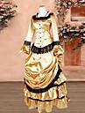 Klänningar Klassisk / Traditionell Lolita Dam Brun lolita tillbehör Klänning Satin Halloweenkostymer / Lång längd