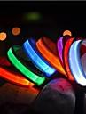 Katt Husdjur Hund Halsband Träningshalsband till hundar LED Lampor Elektrisk Självlysande Enfärgad Nylon Blå Rosa Regnbåge