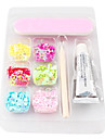 Splendid Nail & Nail Art Decoration Kit (6 Färger Nail Art Dekoration & Nail Lim & nagelfil & 1 st Bamboo Stick)
