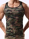 Men\'s Tank Top Shirt Camo / Camouflage Print Sleeveless Daily Slim Tops Active Army Green / Sports / Summer