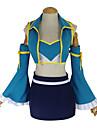 Inspirerad av Sagotema Lucy Heartfilia Animé Cosplay-kostymer Japanska cosplay Suits Lappverk Väst / Kjol / BH Till Dam