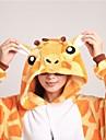 Vuxna Kirugumi-pyjamas med tofflor Giraff Djurmönstrad Onesie-pyjamas Korallfleece Orange Cosplay För Herr och Dam Pyjamas med djur Tecknad serie Festival / högtid Kostymer