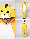 Vuxna Kigurumi Tiger Djurmönstrad Onesie-pyjamas Korallfleece Gul Cosplay För Herr och Dam Pyjamas med djur Tecknad serie Festival / högtid Kostymer